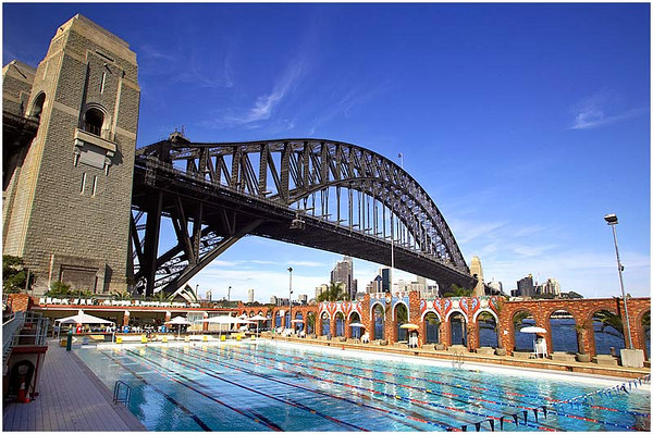 The North Sydney Olympic pool - the only one I am yet to actually swim in!  I am currently couch surfing just around the corner, but it is currently having a refurb, so will have to tick it off another time